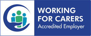 Working for carers accredited employer, Logo